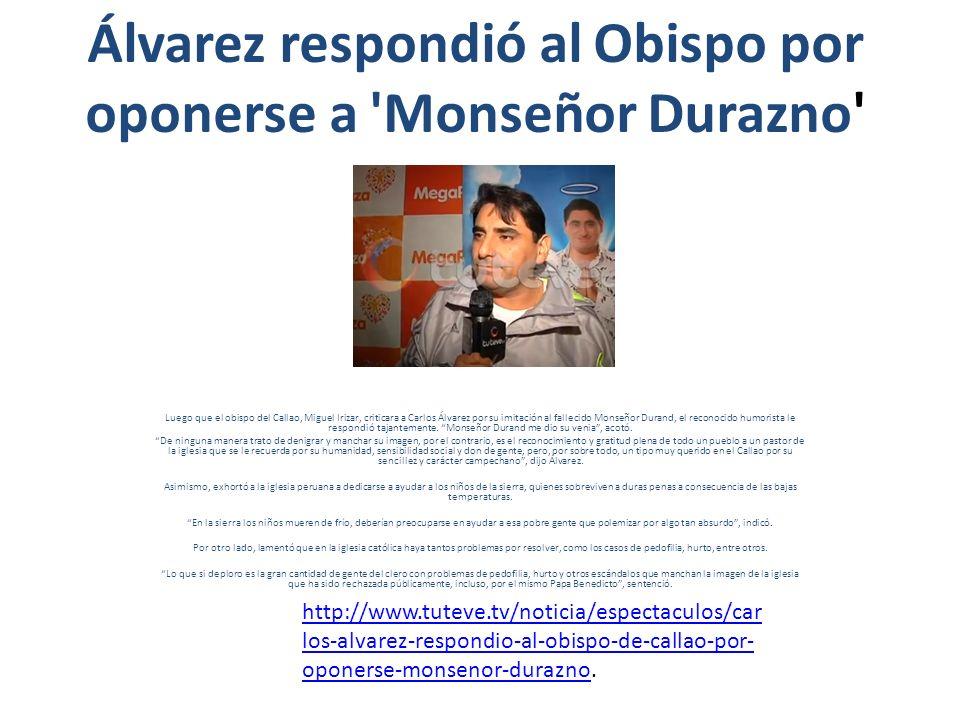 Edwin: Alfredo es envidioso Gordo lo calificó de extra con buen sueldo en el programa de Carlos Álvarez.