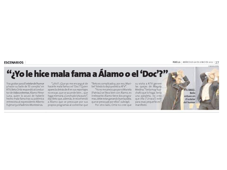 Beto llamó conchudo a Álamo Beto Ortiz dijo que Álamo Pérez Luna debería preocuparse por sus programas en ATV antes de opinar de la salida de Maribel Toledo-Ocampo de Buenos días, Perú.