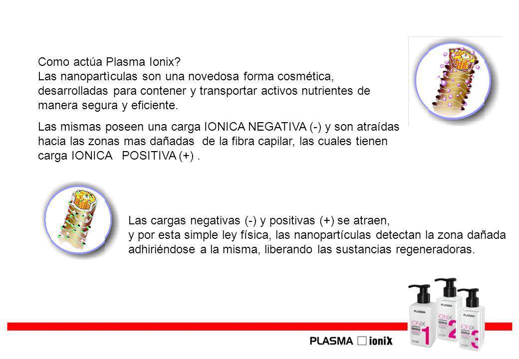 Como actúa Plasma Ionix? Las nanopartìculas son una novedosa forma cosmética, desarrolladas para contener y transportar activos nutrientes de manera s