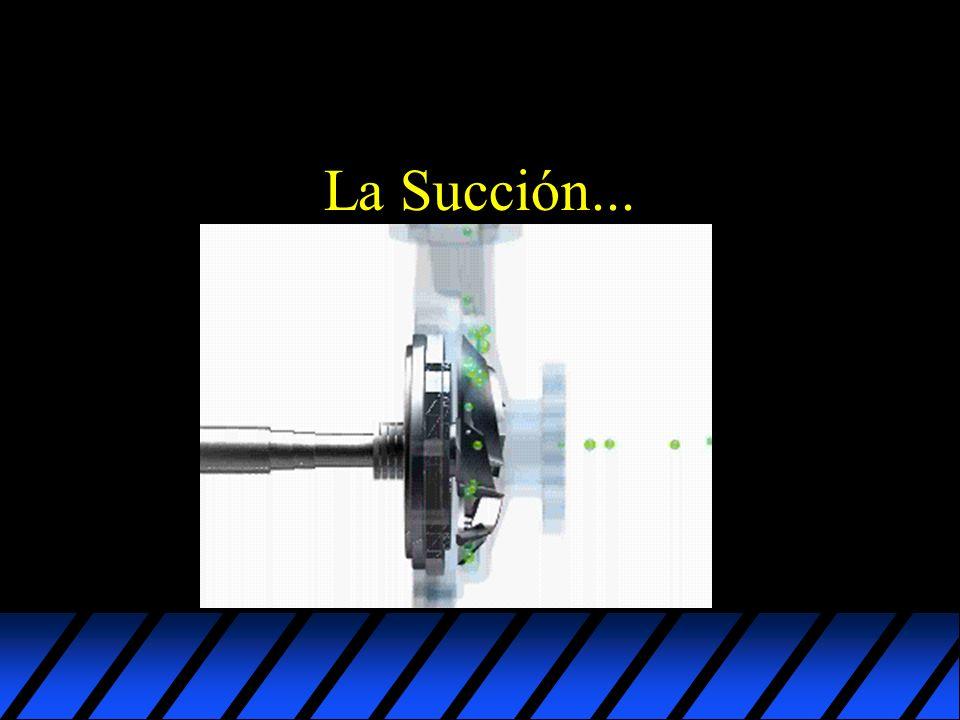 Limitaciones de la Succión u En gran parte, los problemas de bombas centrifugas son causados por deficiencias en las condiciones de succión.