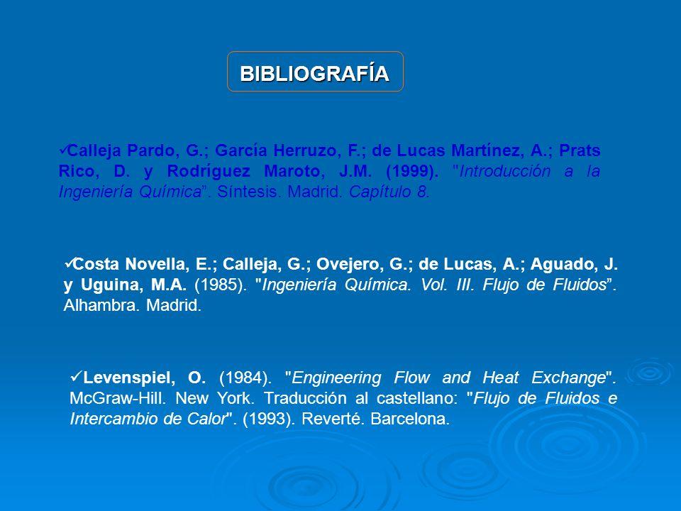BIBLIOGRAFÍA Calleja Pardo, G.; García Herruzo, F.; de Lucas Martínez, A.; Prats Rico, D. y Rodríguez Maroto, J.M. (1999).