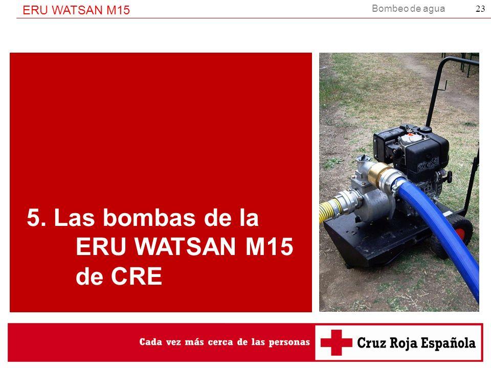 Bombeo de agua ERU WATSAN M15 23 5. Las bombas de la ERU WATSAN M15 de CRE