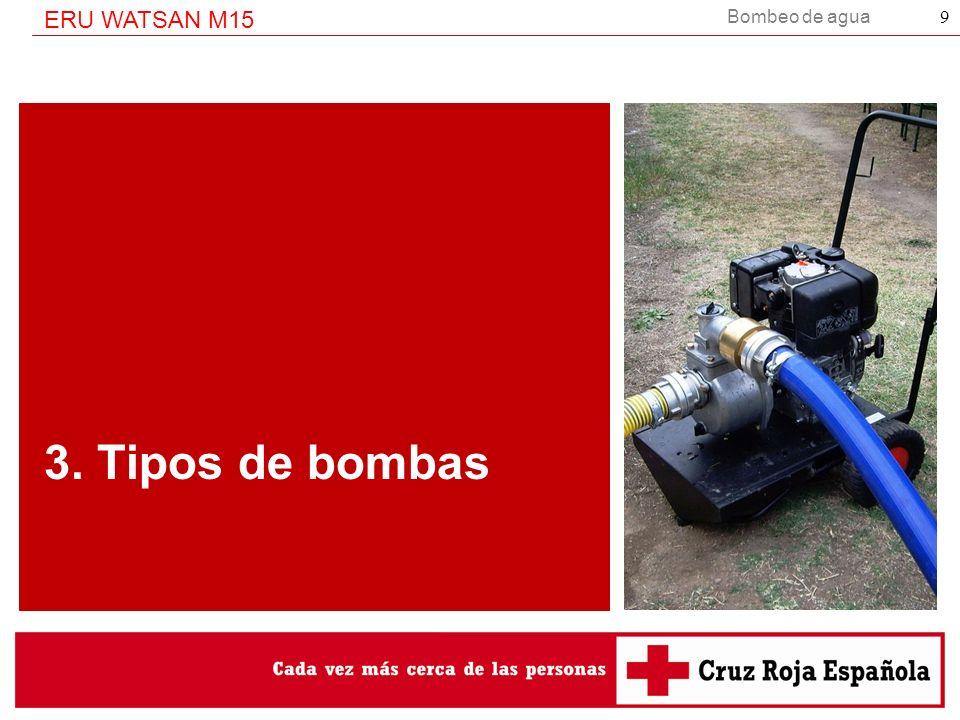 Bombeo de agua ERU WATSAN M15 30 GRACIAS