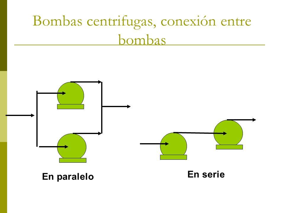 Bombas centrifugas, conexión entre bombas En paralelo En serie