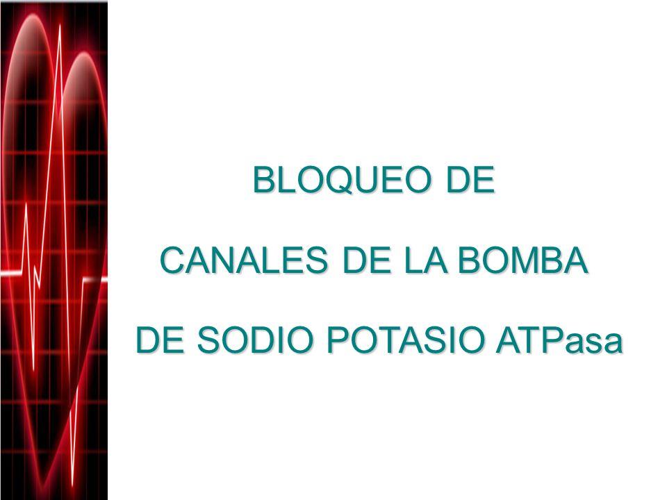 BLOQUEO DE CANALES DE LA BOMBA DE SODIO POTASIO ATPasa