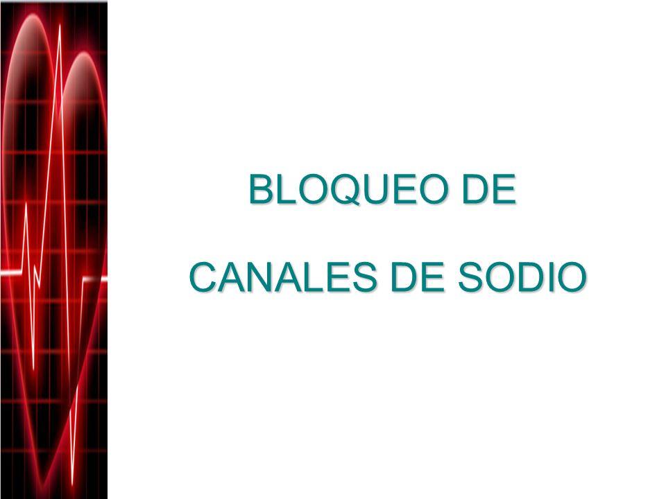 BLOQUEO DE CANALES DE SODIO