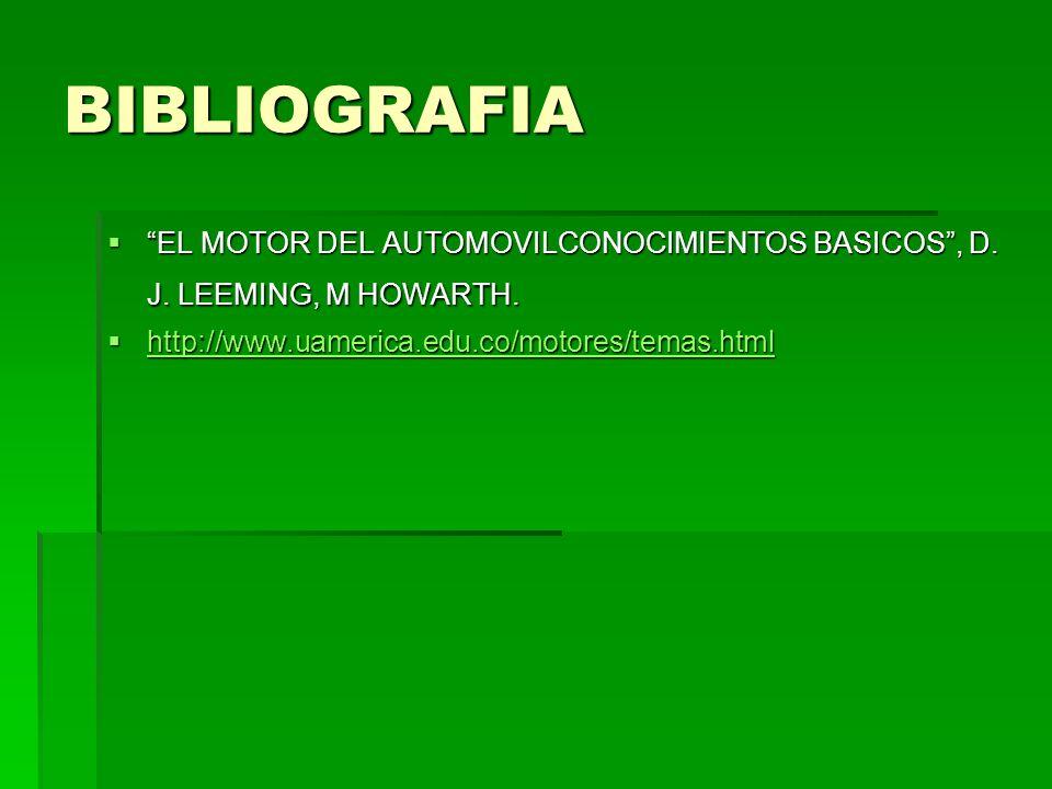 BIBLIOGRAFIA EL MOTOR DEL AUTOMOVILCONOCIMIENTOS BASICOS, D.