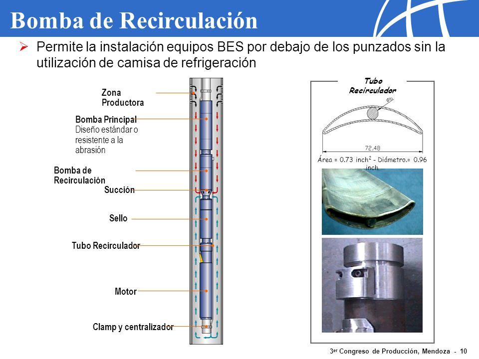 3 er Congreso de Producción, Mendoza - 10 Bomba de Recirculación Zona Productora Bomba Principal Diseño estándar o resistente a la abrasión Bomba de R