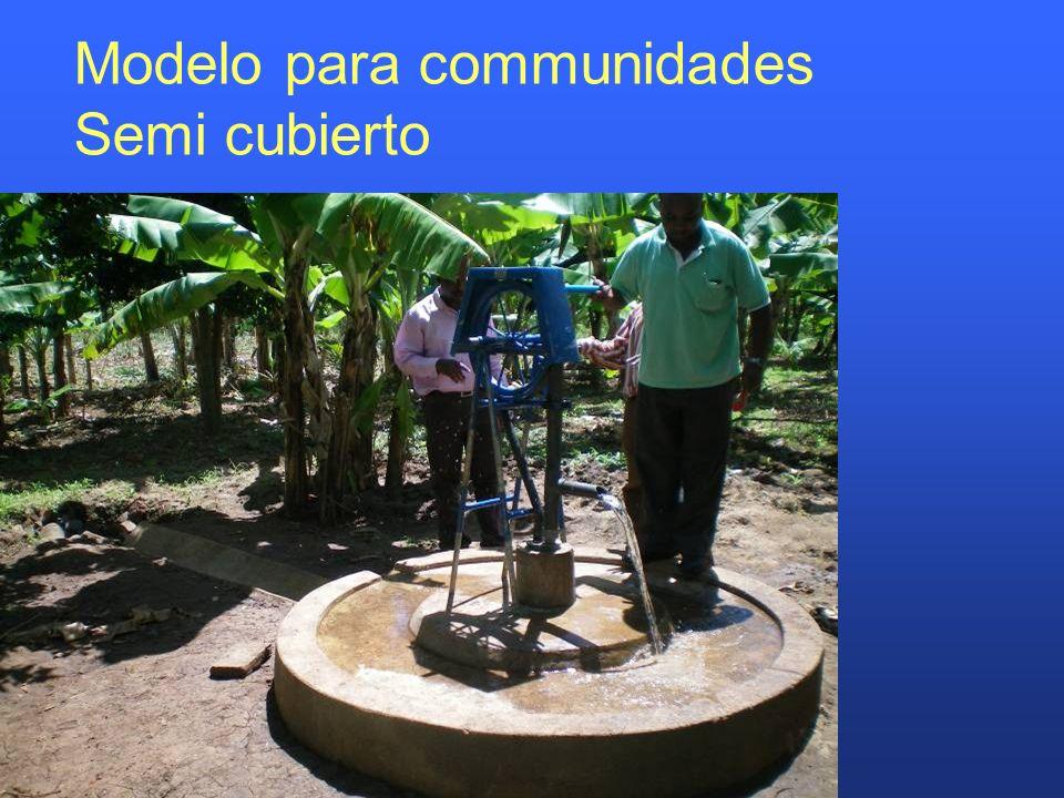 Modelo para communidades Semi cubierto