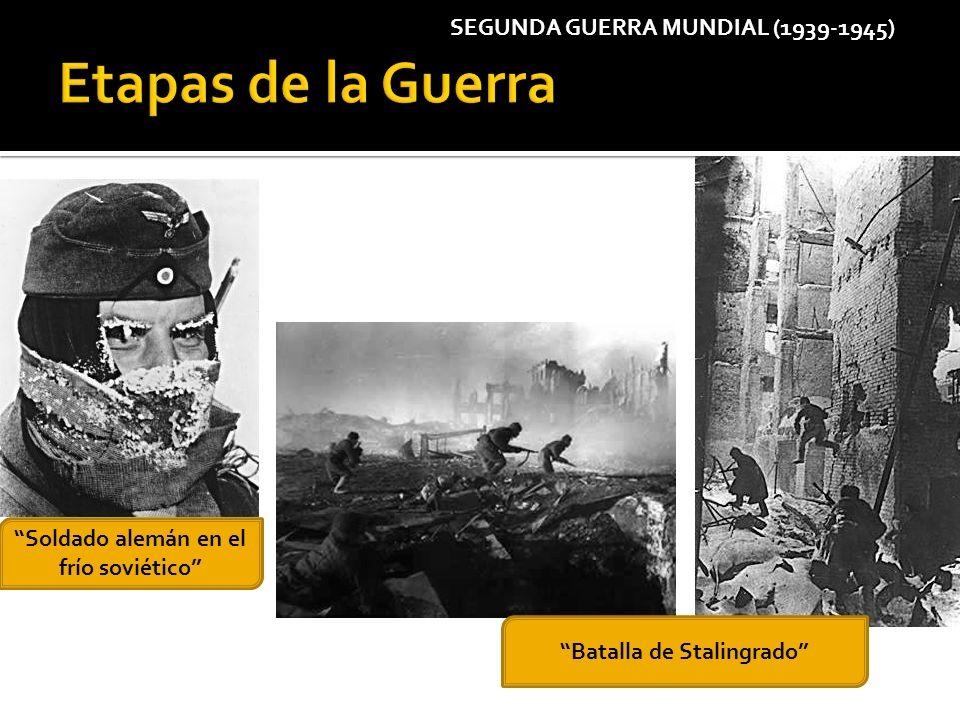 SEGUNDA GUERRA MUNDIAL (1939-1945) Soldado alemán en el frío soviético Batalla de Stalingrado