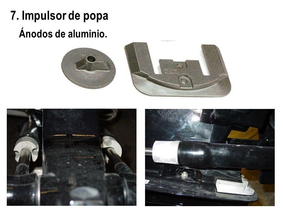 7. Impulsor de popa Ánodos de aluminio.