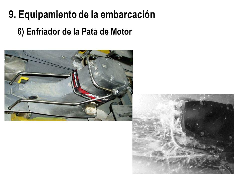 9. Equipamiento de la embarcación 6) Enfriador de la Pata de Motor