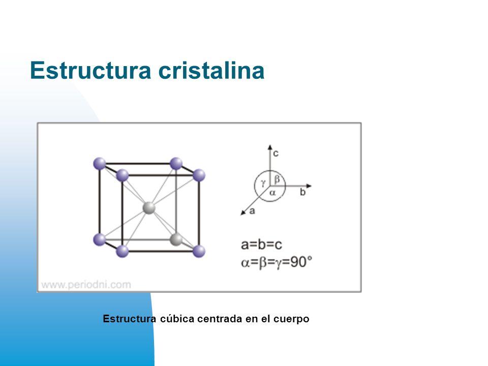 Estructura cristalina Estructura cúbica centrada en el cuerpo