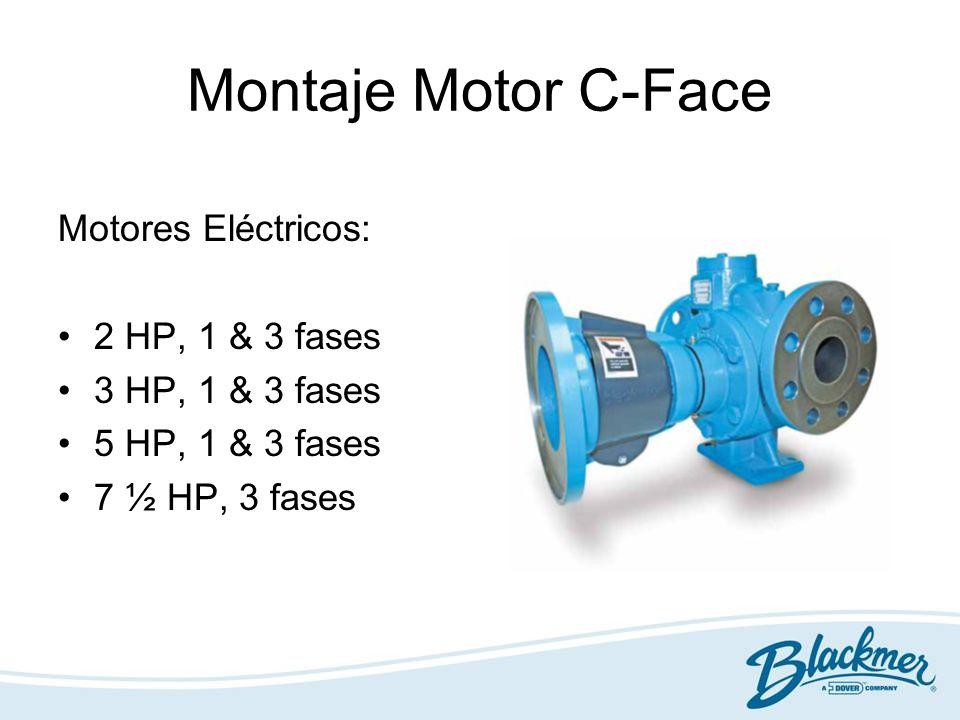 Montaje Motor C-Face Motores Eléctricos: 2 HP, 1 & 3 fases 3 HP, 1 & 3 fases 5 HP, 1 & 3 fases 7 ½ HP, 3 fases