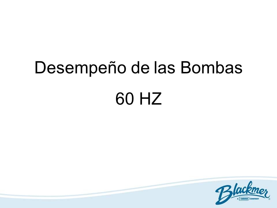 Desempeño de las Bombas 60 HZ