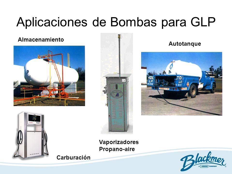 Bombas LGL Acoplamiento directo al motor Llenado de cilindros, Carburación, Vaporizadores 8 Modelos hasta 32 gpm (122 lpm) Trasvase, poleas en V, reductor RPM Plantas de almacenaje, terminales, llenado de cilindros, vaporizadores 3 Modelos hasta 300 gpm (1,135 lpm) Transportes, toma de fuerzas Autotanques, semi-remolques 4 Modelos hasta 300 gpm (1,135 lpm)