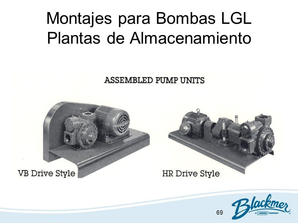69 Montajes para Bombas LGL Plantas de Almacenamiento