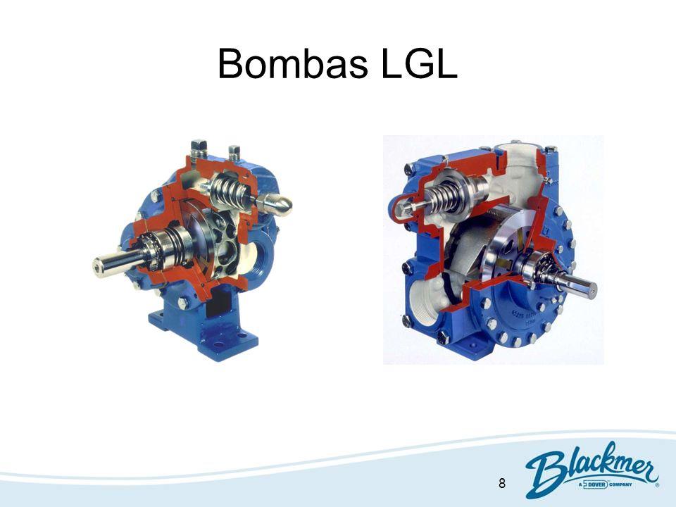 19 Eficiencia Mecánica Bombas Paletas:80-90% Engranaje:60-65% Canal lateral: 40-50% TR: 30-35%