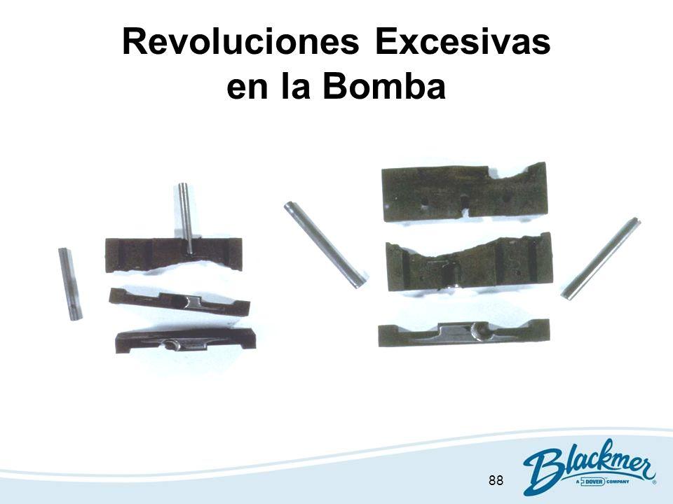 88 Revoluciones Excesivas en la Bomba