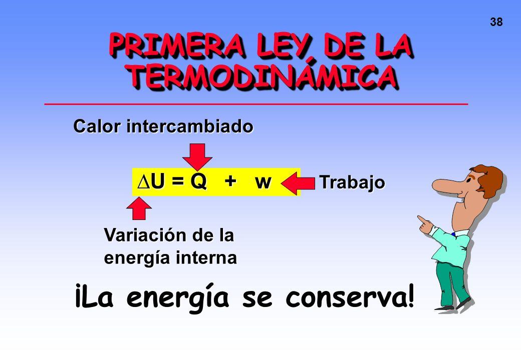 37 Calor intercambiado en procesos físicos Las moléculas de CO 2 aumentaron su energía cinética.Las moléculas de CO 2 aumentaron su energía cinética.