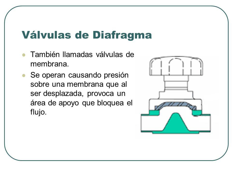 Las válvulas para presiones de trabajo de hasta 250 psi se hacen por lo general de fundición.