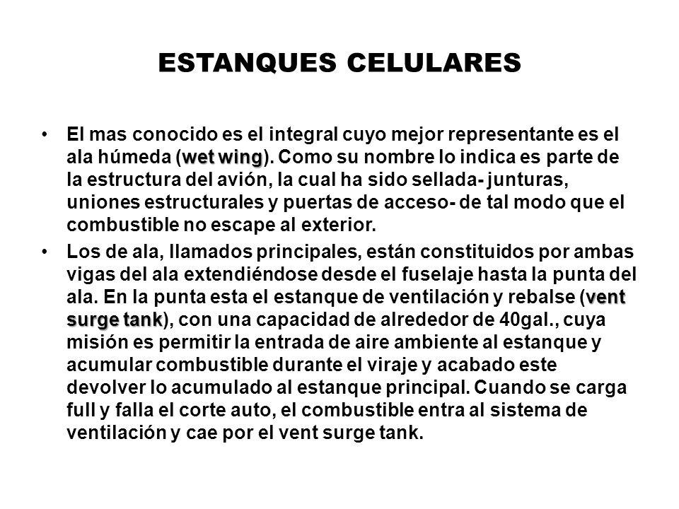 ESTANQUES CELULARES wet wingEl mas conocido es el integral cuyo mejor representante es el ala húmeda (wet wing). Como su nombre lo indica es parte de