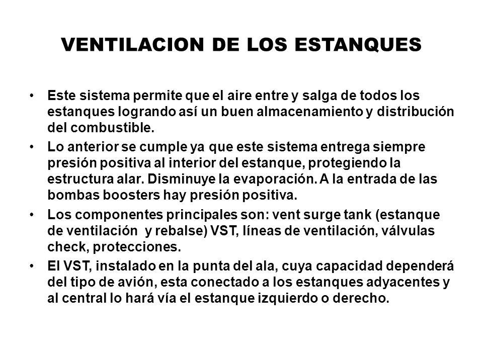 VENTILACION DE LOS ESTANQUES Este sistema permite que el aire entre y salga de todos los estanques logrando así un buen almacenamiento y distribución