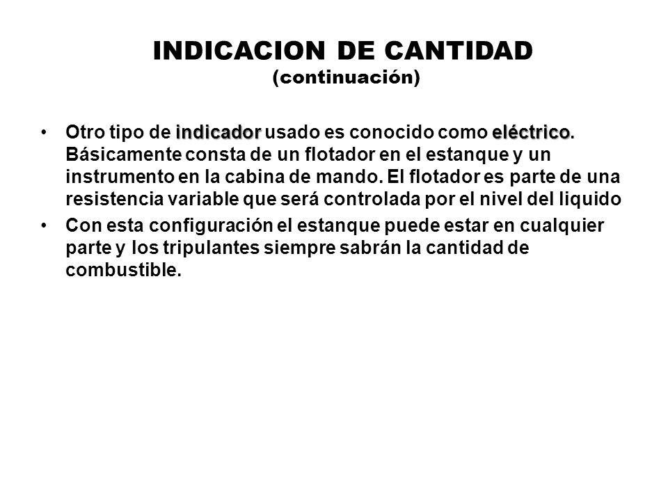 INDICACION DE CANTIDAD (continuación) indicador eléctricoOtro tipo de indicador usado es conocido como eléctrico. Básicamente consta de un flotador en