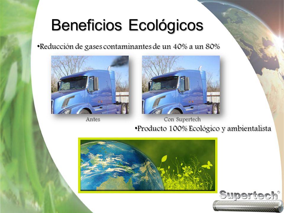 Beneficios Ecológicos Ayuda a obtener resultados aprobatorios en las verificaciones.