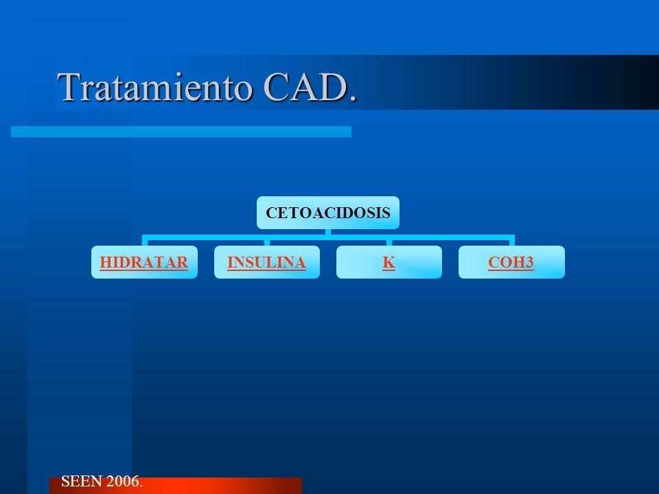 Tratamiento CAD. CETOACIDOSIS HIDRATARINSULINAKCOH3 SEEN 2006.