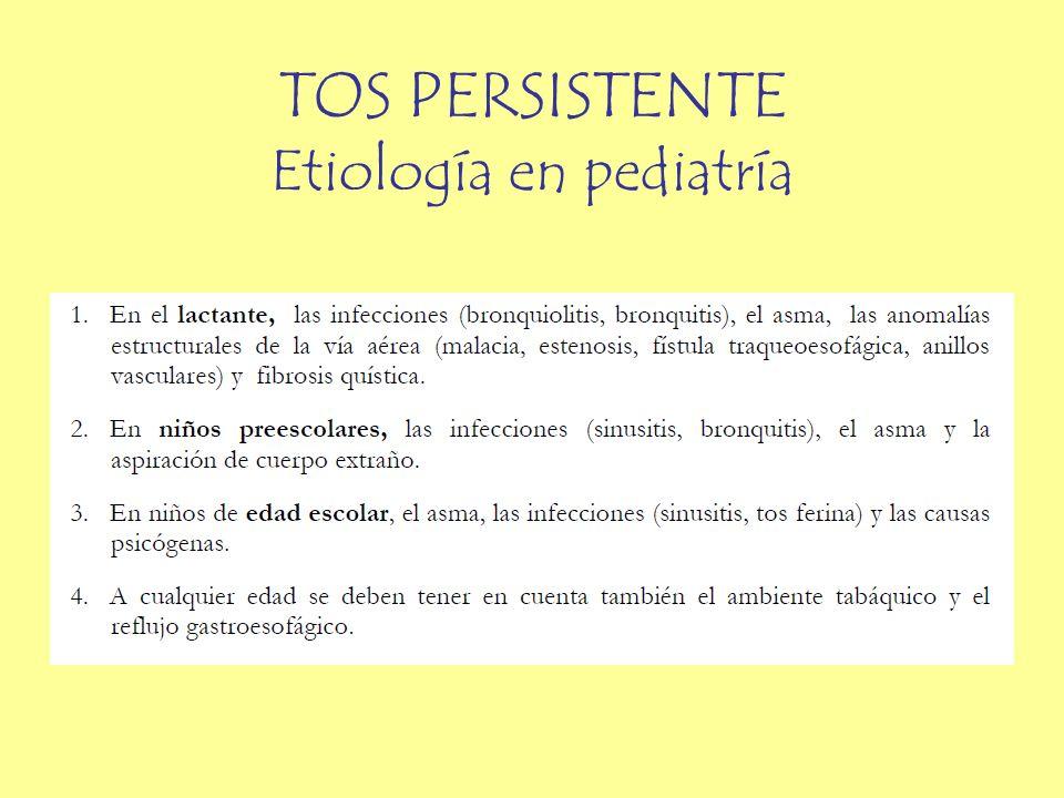TOS PERSISTENTE Etiología en pediatría