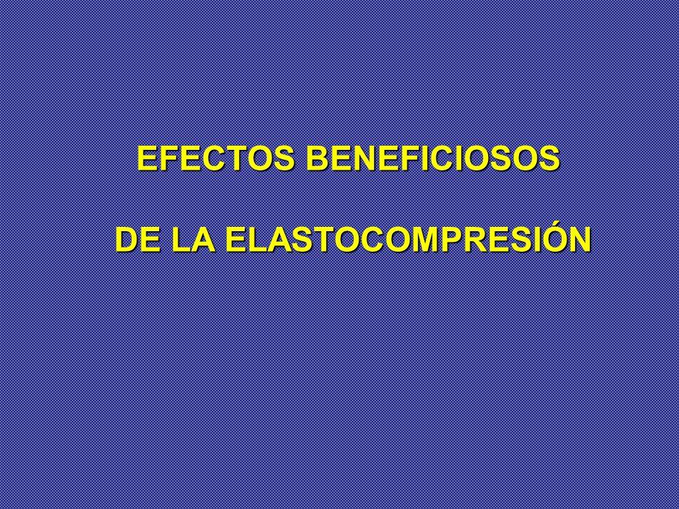 EFECTOS BENEFICIOSOS DE LA ELASTOCOMPRESIÓN