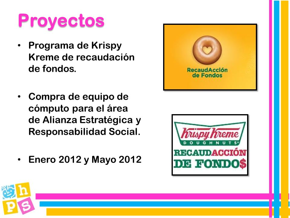 Programa de Krispy Kreme de recaudación de fondos.