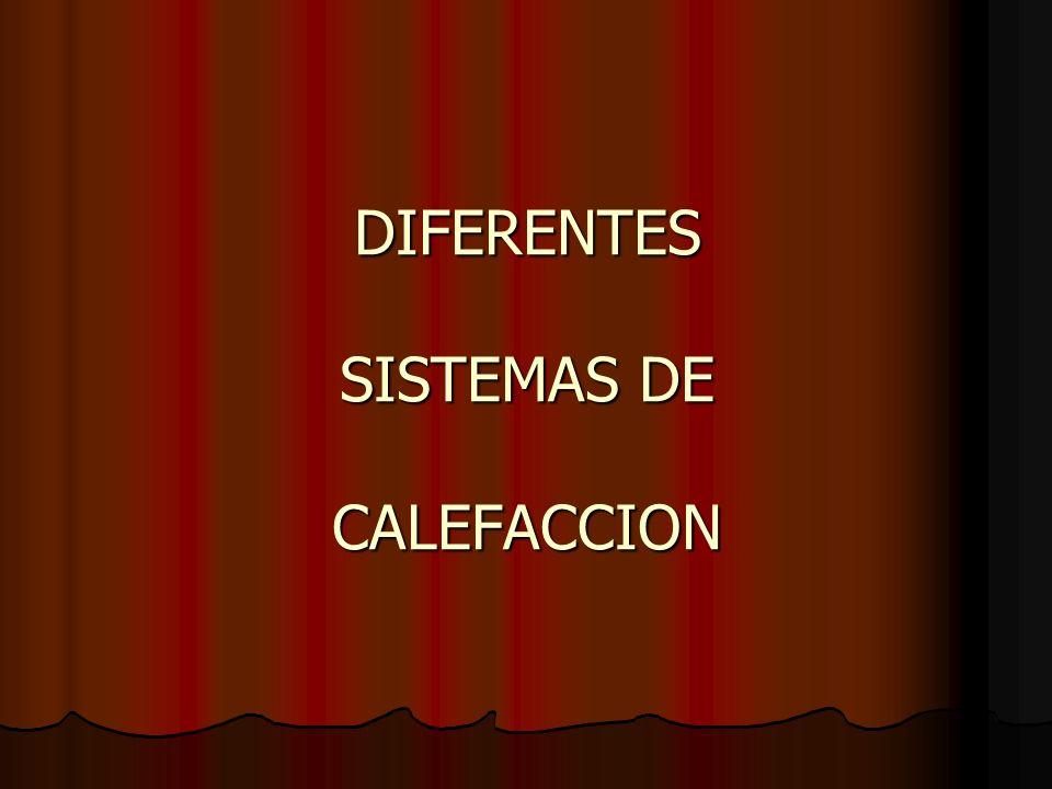 DIFERENTES SISTEMAS DE CALEFACCION