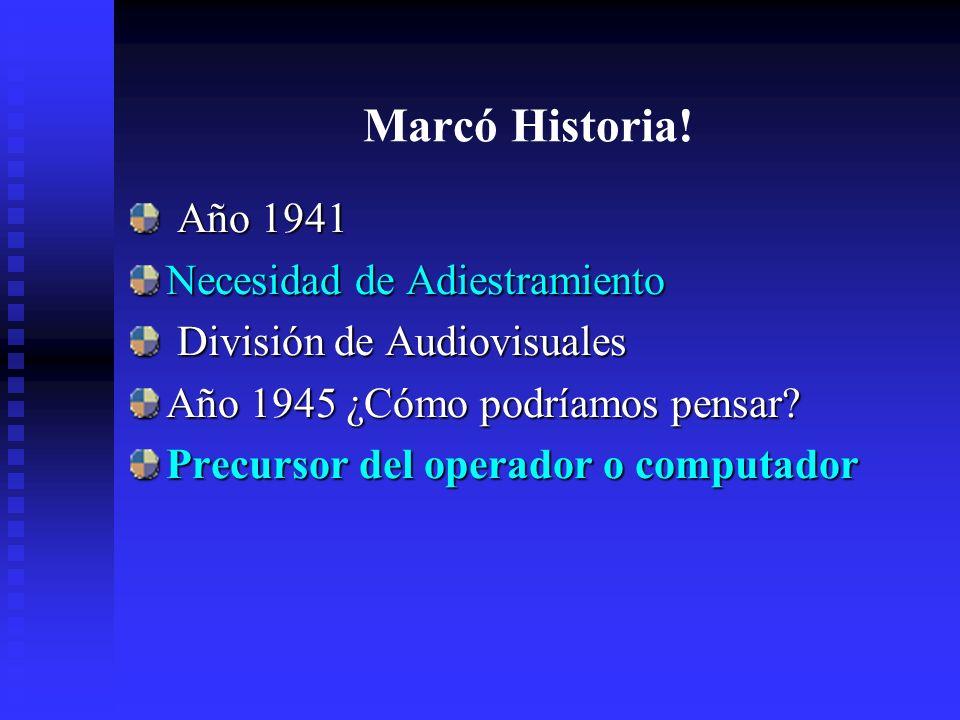 Marcó Historia.