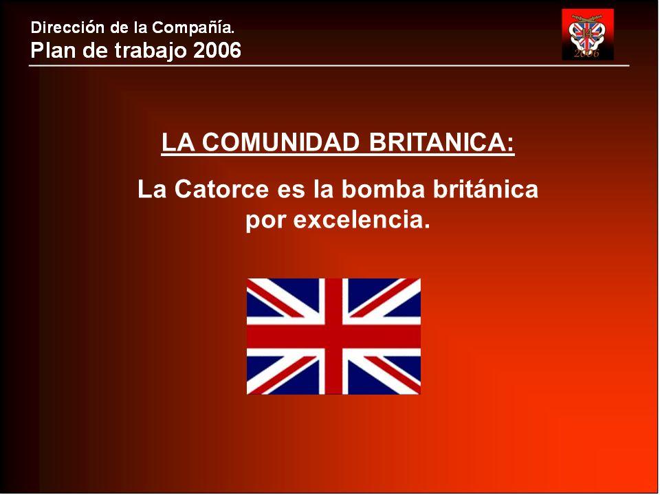 LA COMUNIDAD BRITANICA: La Catorce es la bomba británica por excelencia.