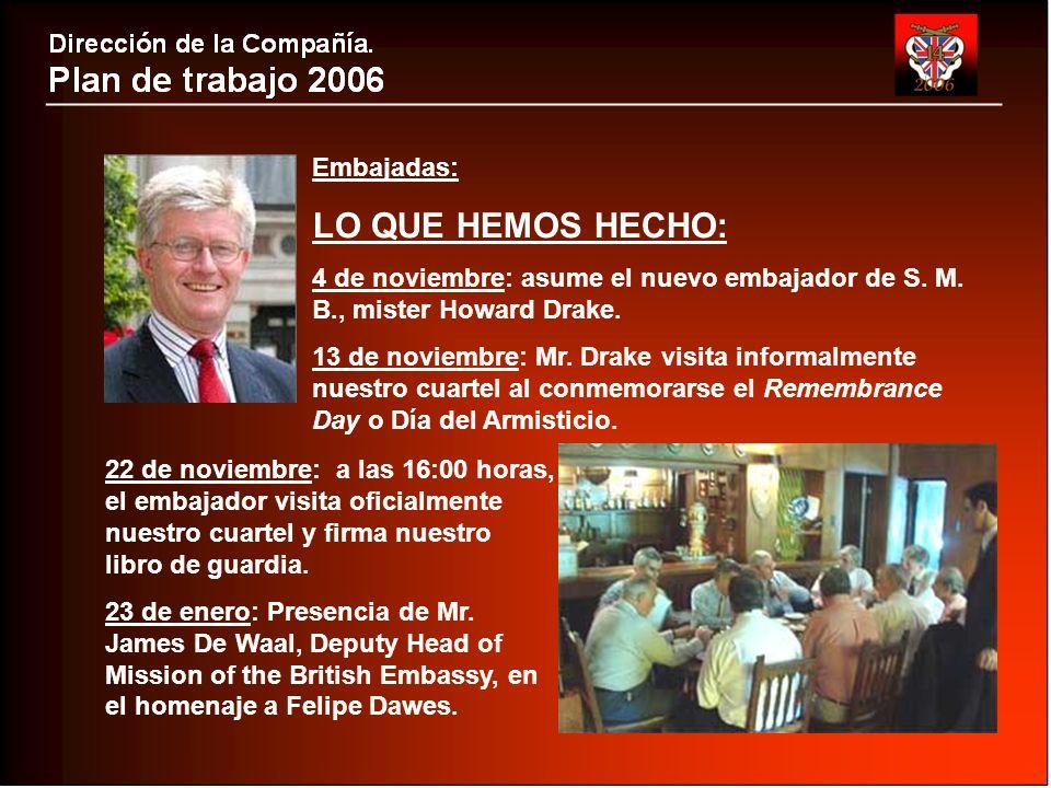 Embajadas: LO QUE HEMOS HECHO: 4 de noviembre: asume el nuevo embajador de S.