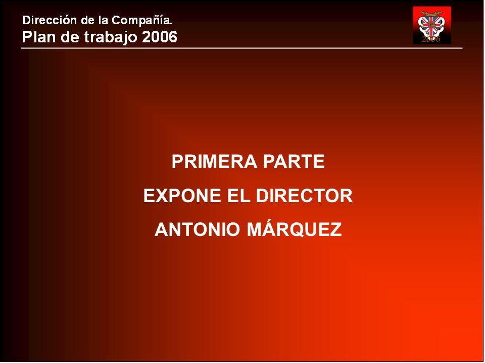 PRIMERA PARTE EXPONE EL DIRECTOR ANTONIO MÁRQUEZ