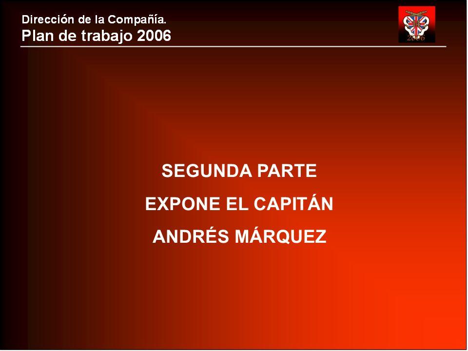 SEGUNDA PARTE EXPONE EL CAPITÁN ANDRÉS MÁRQUEZ