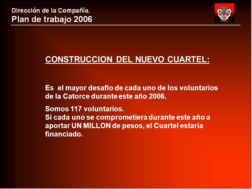 CONSTRUCCION DEL NUEVO CUARTEL: Es el mayor desafío de cada uno de los voluntarios de la Catorce durante este año 2006.