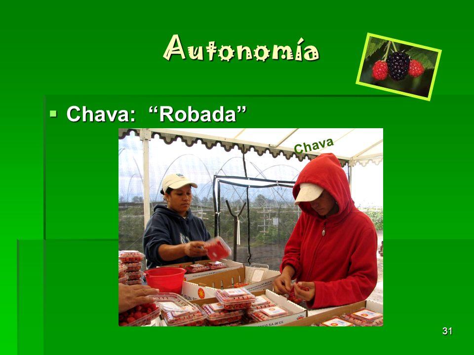 31 Autonomía Chava: Robada Chava: Robada Chava
