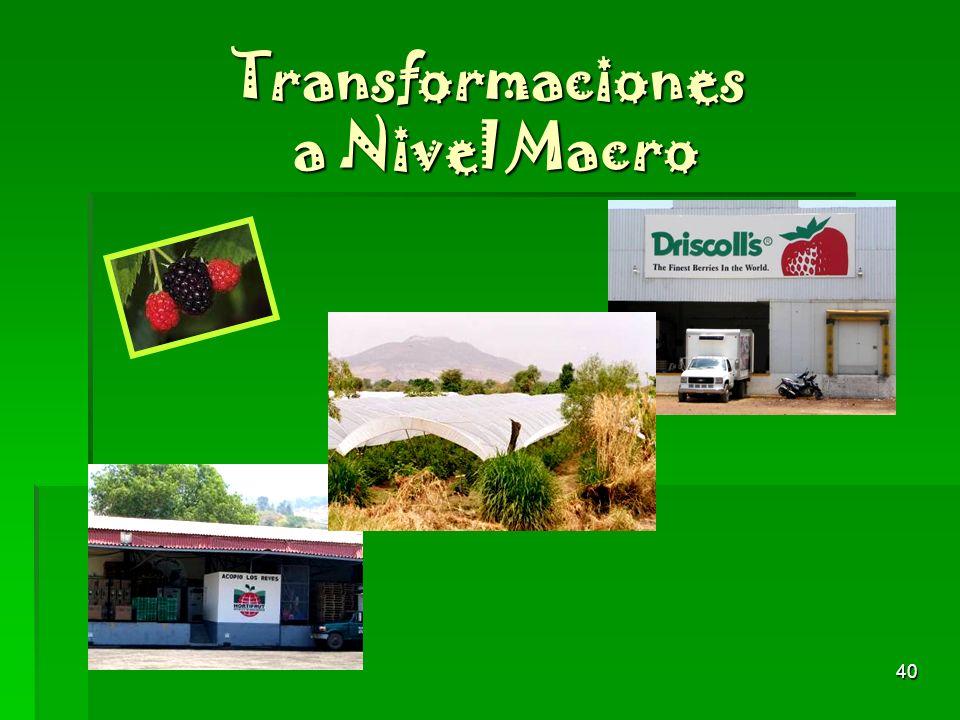 40 Transformaciones a Nivel Macro