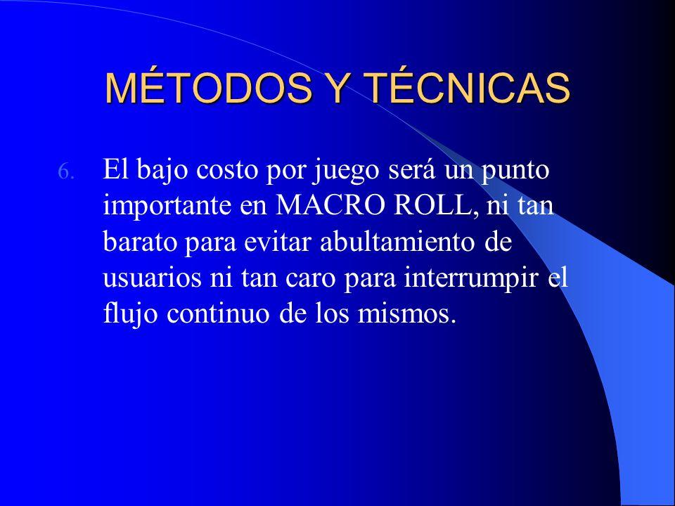 MÉTODOS Y TÉCNICAS 6.