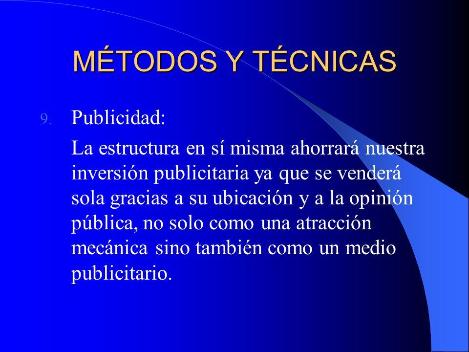 MÉTODOS Y TÉCNICAS 9.
