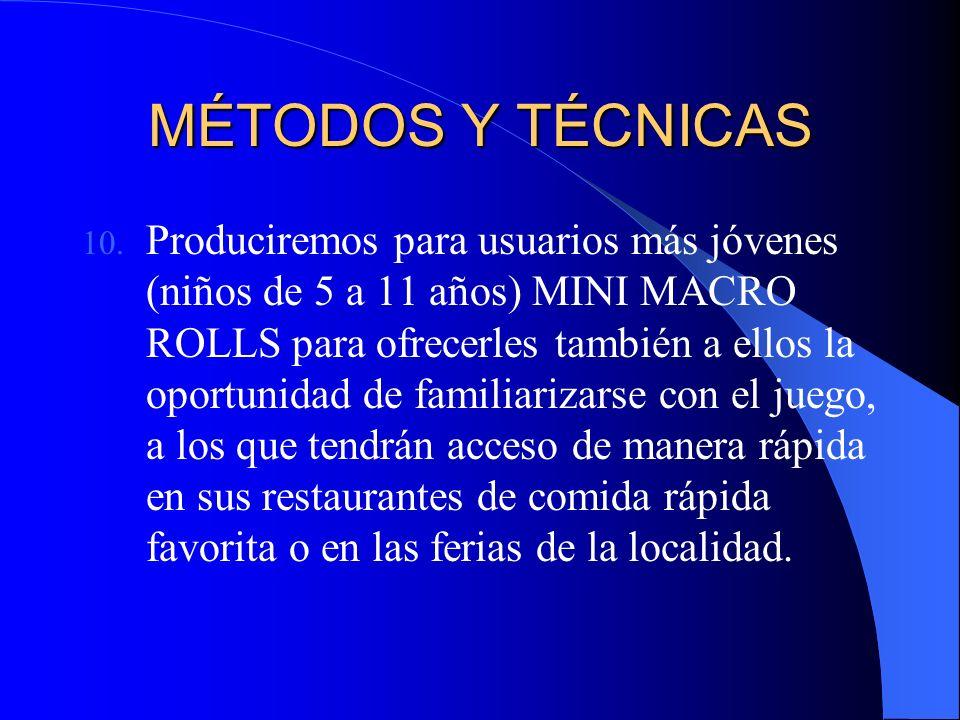 MÉTODOS Y TÉCNICAS 10.