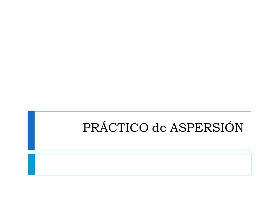 PRÁCTICO de ASPERSIÓN