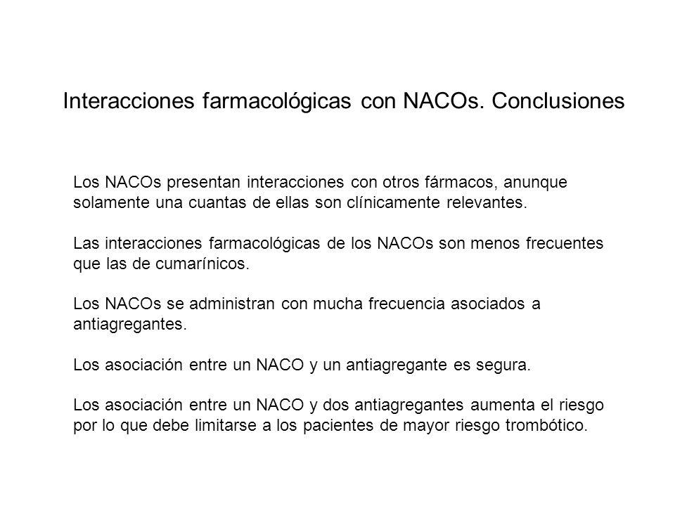 Interacciones farmacológicas con NACOs.