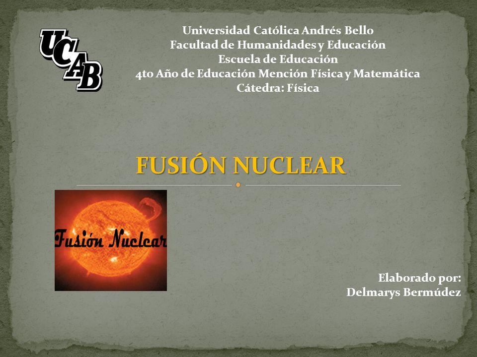 La fusión nuclear es el proceso por el cual varios núcleos atómicos de carga similar se unen para formar un núcleo más pesado.
