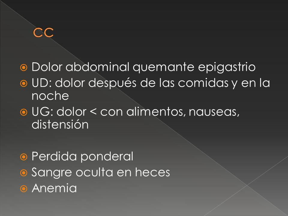 Fiebre, perdida de peso, sudoración nocturna Linfadenopatias o visceromegalias DX ENDOSCOPIA Y BIOPSIA TAC Y BIOPSIA MEDULA OSEA (buscar enfermedad extragástrica ) LOCALIZADO EN SUBMUCOSA