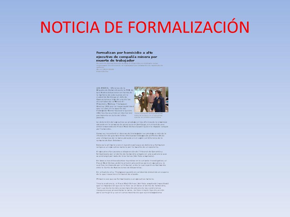 NOTICIA DE FORMALIZACIÓN